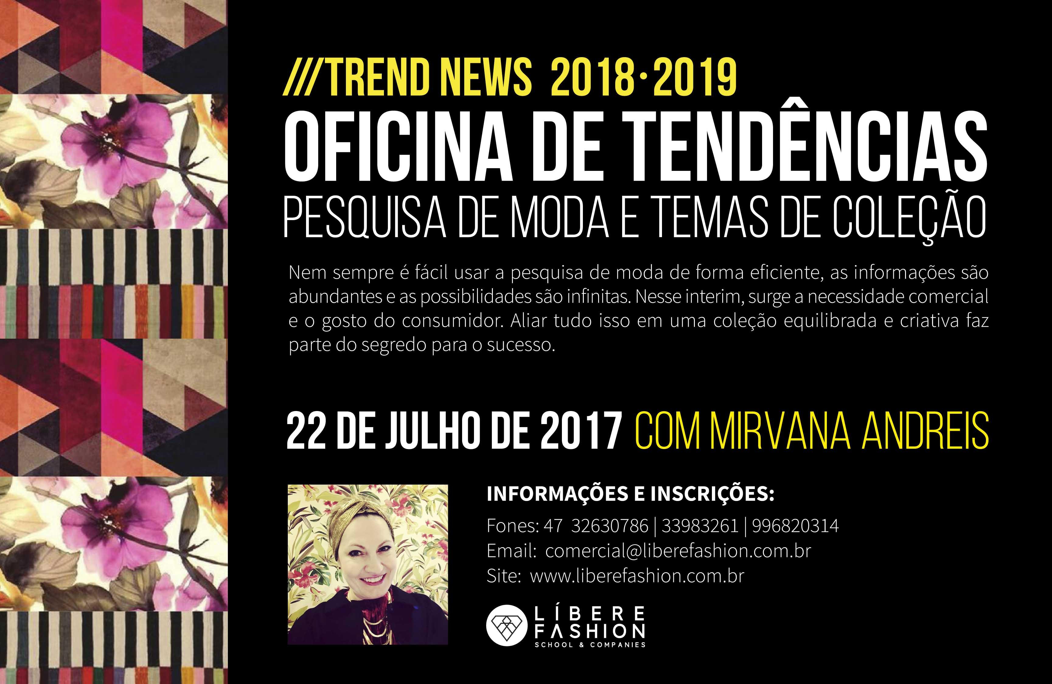 Trend News 2018-2019 - Oficina de tendências, temas de coleção e briefing de estampas